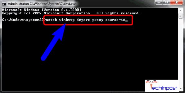 Modify your Internet Explorer to use Default Proxy Server
