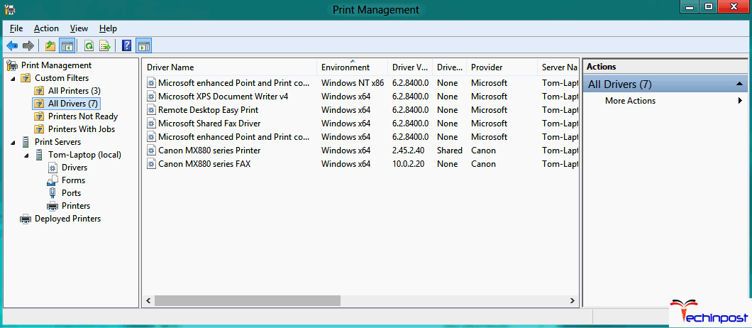 Remove Unnecessary Printer Drivers from your PC Windows Cannot Connect to the Printer