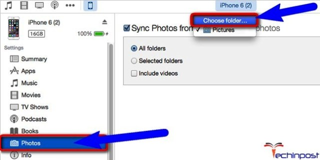 Remove all the Synced by Syncing with New Folder