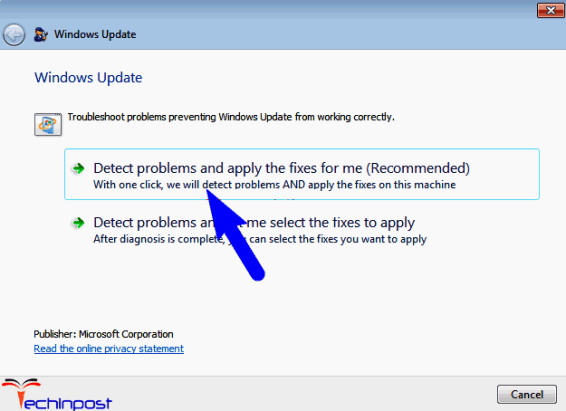 Reset the Windows Update Components by using Microsoft Fix it