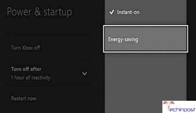 Turn the Energy Saving Mode ON