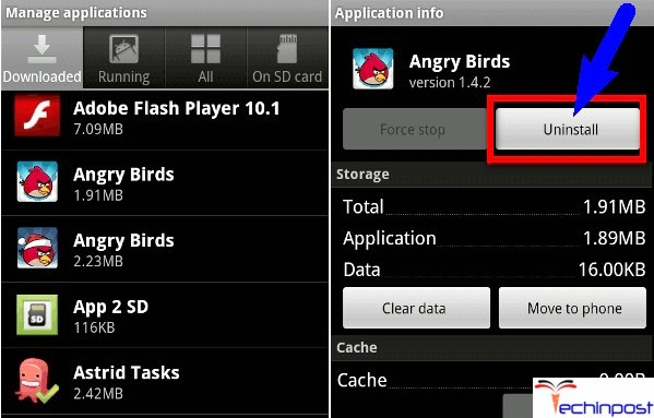 Uninstall the Error Issue Applications Unfortunately The Process Android.Process.Acore Has Stopped