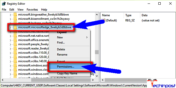 Check the Read All Permissions on your Windows PC