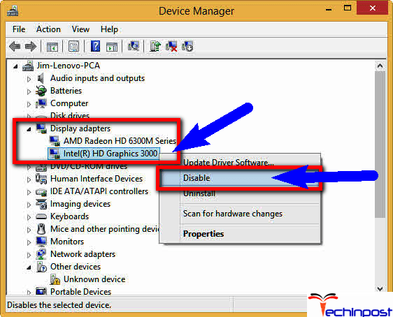Disable Intel HD Graphic Driver from your Windows PC