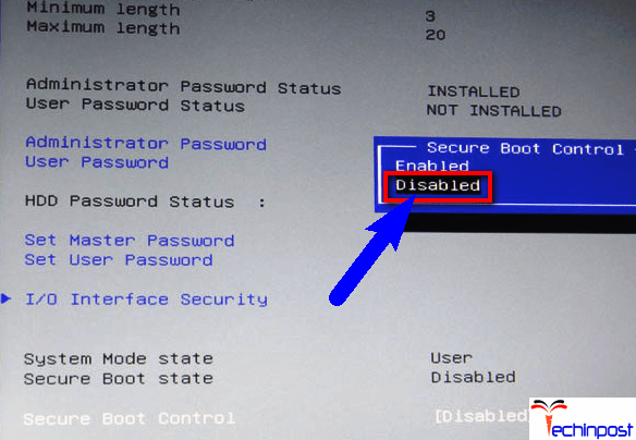 Disable Secure Boot on your Windows PC