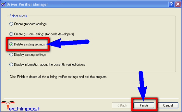Disable or Reset the Driver Verifier on your Windows PC
