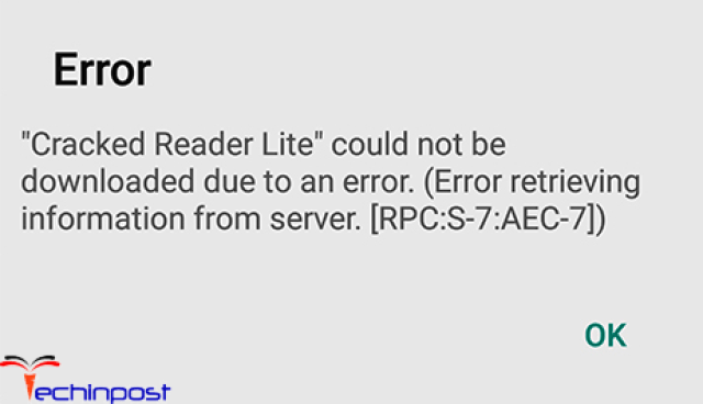 Error Retrieving Information from Server RPC S-7 AEC-7