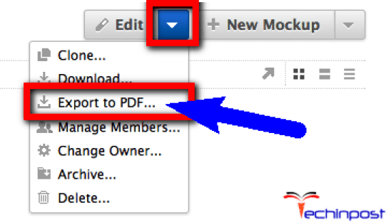 Export your Project to a PDF