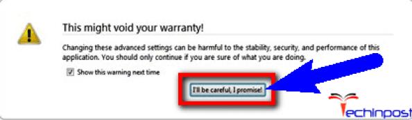 Make it False & Change the Value on your Browser