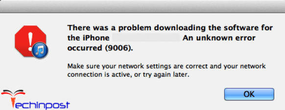 There was a Problem Downloading the Software for the iPhone
