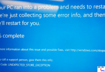 UNEXPECTED_STORE_EXCEPTION