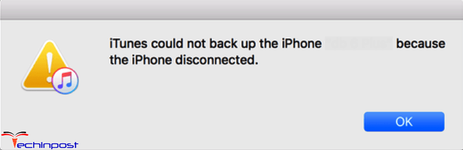 iTunes Could Not Backup the iPhone Because the iPhone Disconnected