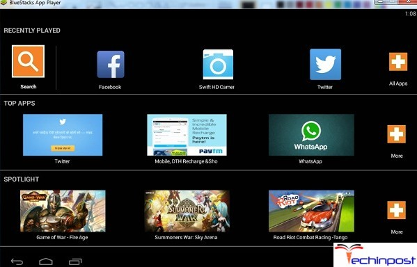 After installing, Open the Bluestacks App Player