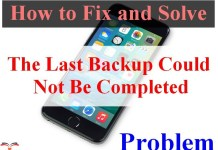 The Last Backup Could Not Be Completed