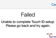 Unable to Complete Touch ID Setup
