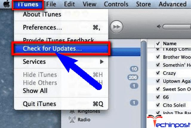 Update your iTunes Software