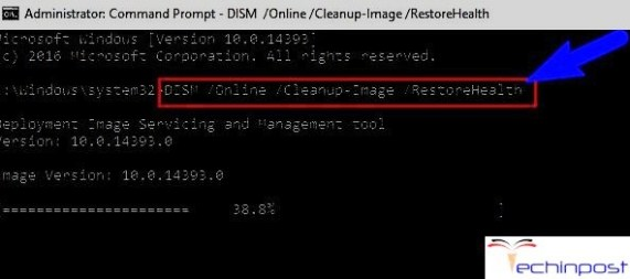 DISM /Online /Cleanup-Image /RestoreHealth