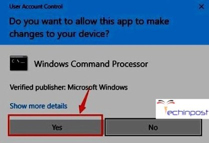 Hit yes to continue when you are prompted with the UAC