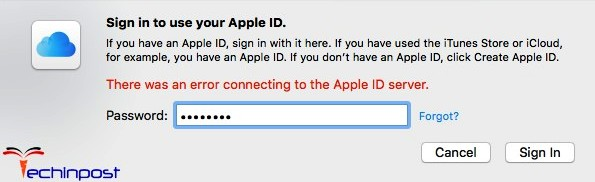 Error Connecting To Apple Id Server On Iphone