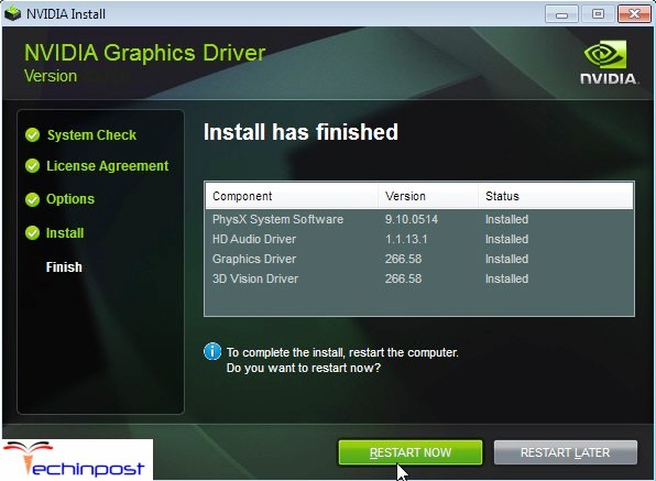 nvidia installer has finished NVIDIA Installer Cannot Continue