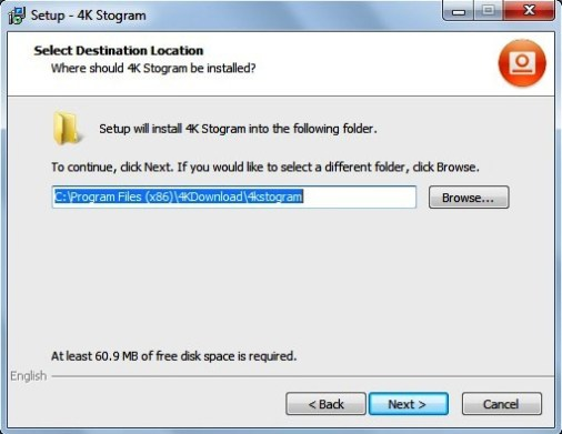 Choose the appropriate location where you want to install the software and click Next again