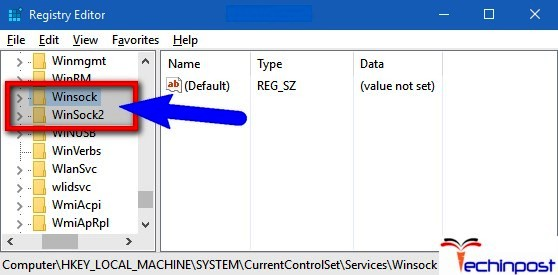 Fixing Windows Sockets Entries in Registry Editor One or More Network Protocols are Missing on this Computer
