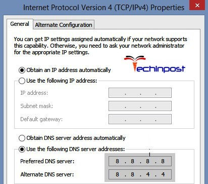 Obtaining IP Address Automatically and Setting Custom DNS One or More Network Protocols are Missing on this Computer