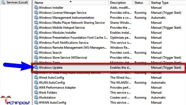 Stopping Windows Update Service