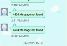 4504 Message Not Found