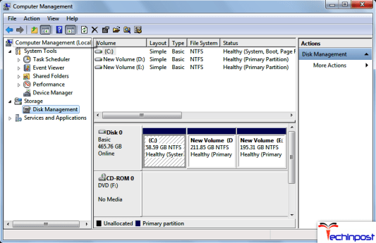 Changing the Partition Size