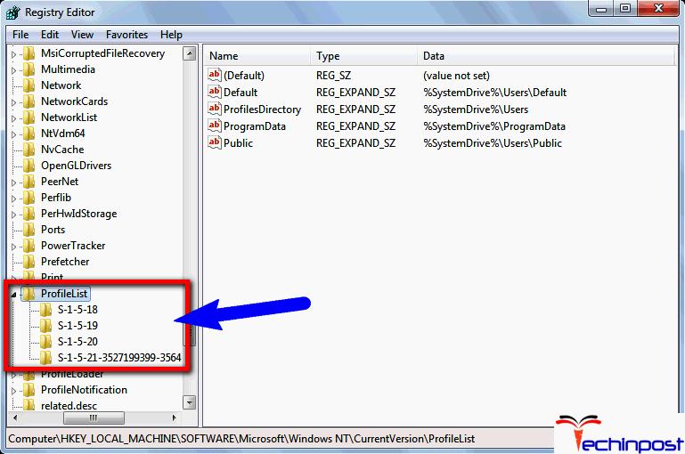 user profile service failed to start windows 10