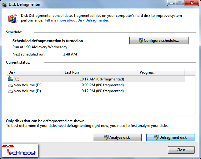 Defragging the Hard Drive A Disk Read Error Occurred Windows