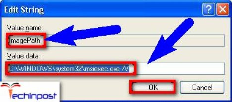 If thisValue databox contains a different path from the correct path, then make possible changes to correct this path, and click OKfor closing theEdit Stringdialog box