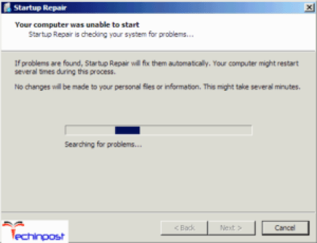 Repairing Windows of your PC using the System Recovery