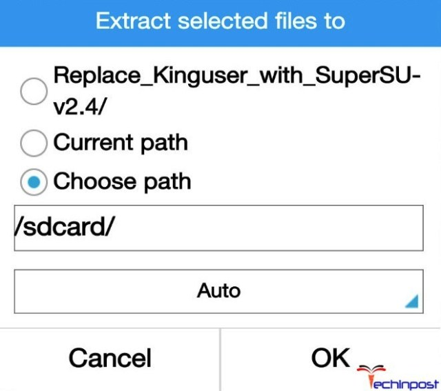 Steps to Switch from the KingUser to the SuperSU