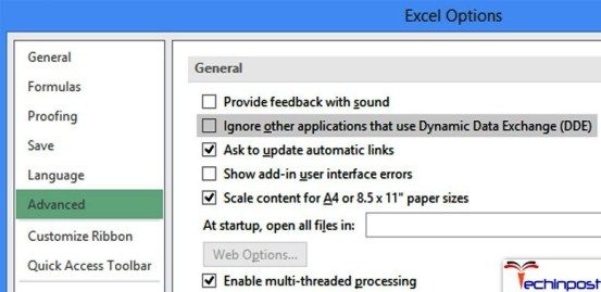 Ignore other application that uses Dynamic Data Exchange (DDE)
