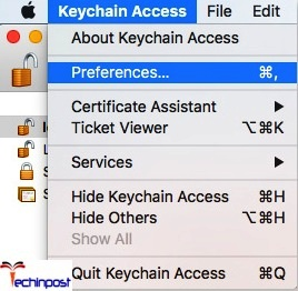 Then move on to the Keychain Access preference