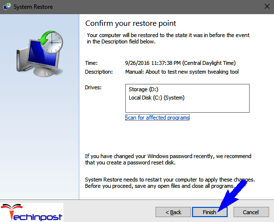 Using System Restore to Roll Back Recent Changes
