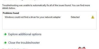Windows could not find a Driver for your Network Adapter