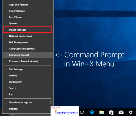 Right-tap on Win key and afterward select Device Manager Application has been Blocked from Accessing Graphics Hardware
