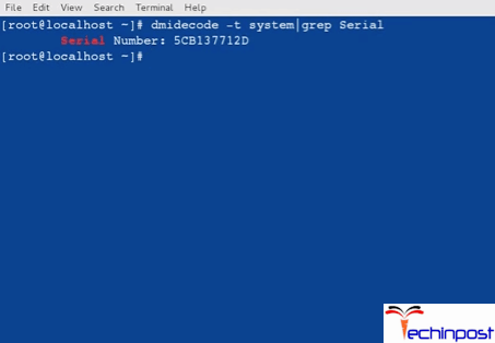 The serial number of your computer, i.e. the serial number of your CPU (both for laptop or desktop) will be shown in the command prompt