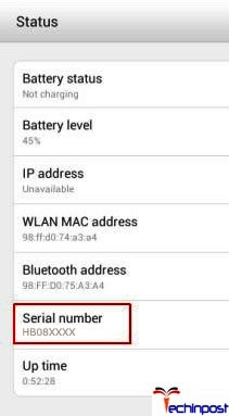 To find the serial number from the settings of the phone, then go to the setup Tap the Settings icon (System settings). From the menu of the system look for option written as System (All settings)