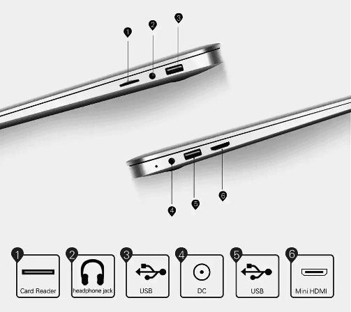 Jumper Ezbook 2 Se Ports & Connectivity