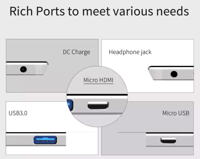 Jumper EZpad 6 Plus Ports & Connectivity