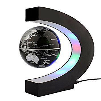 C Shape Magnetic Levitation Floating Globe World Map with LED Light