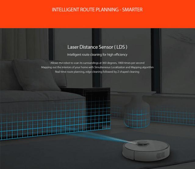 Roborock S50 Smart Robot Vacuum Cleaner Intelligent Route Planning