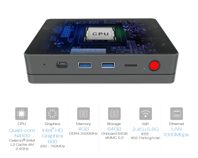 Alfawise T1 mini PC COU