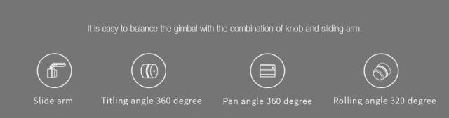FY Feiyutech G6 Gimbal Stabilizer Angles