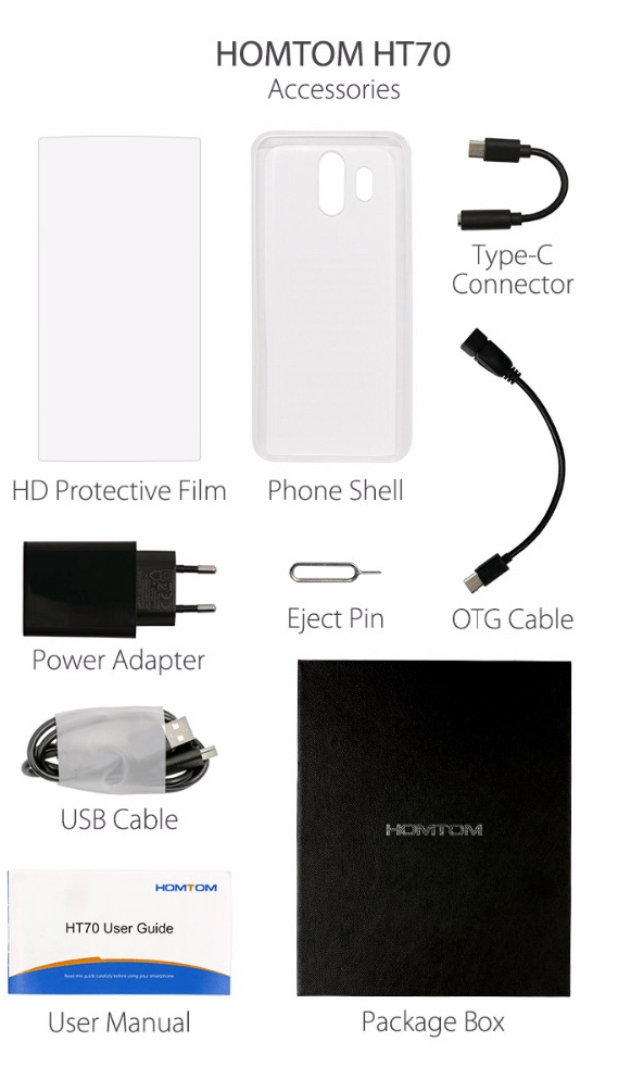 Homtom HT70 Accessories