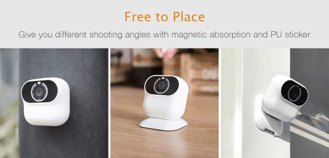 Xiaomo Action Camera Movable Angles